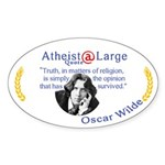 Oscar Wilde Religion Opinion Sticker (Oval)