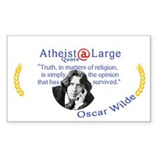 Oscar Wilde Religion Opinion Decal