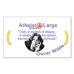 Oscar Wilde Religion Opinion Sticker (Rectangle)