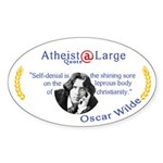 Oscar Wilde leprous Christianity Sticker (Oval)