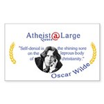 Oscar Wilde leprous Christianity Sticker (Rect)