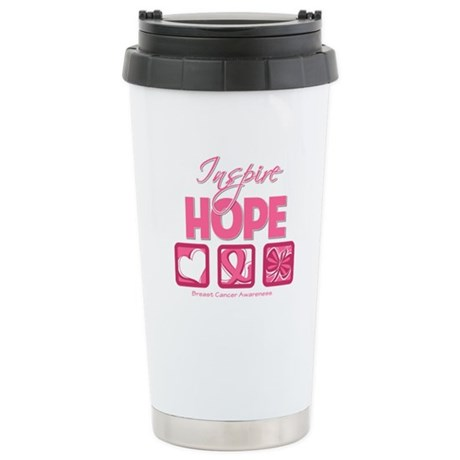 Inspire Hope Breast Cancer Ceramic Travel Mug