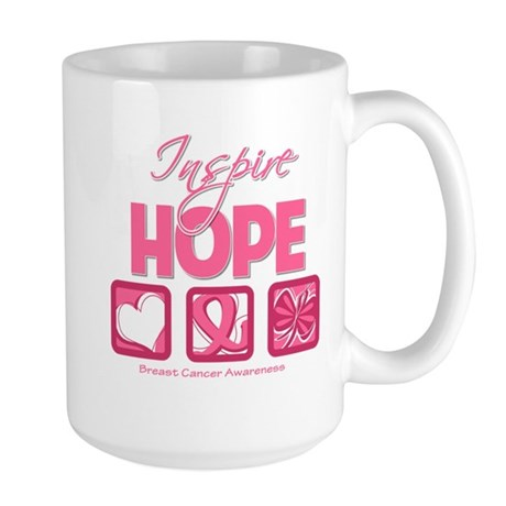 Inspire Hope Breast Cancer Large Mug