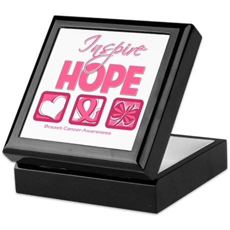 Inspire Hope Breast Cancer Keepsake Box