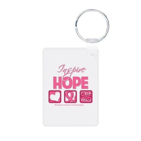 Inspire Hope Breast Cancer Aluminum Photo Keychain