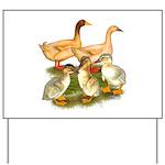 Buff Duck Family Yard Sign