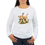 Buff Duck Family Women's Long Sleeve T-Shirt