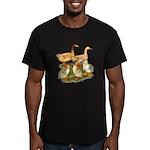 Buff Duck Family Men's Fitted T-Shirt (dark)