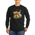 Buff Duck Family Long Sleeve Dark T-Shirt