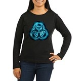Blue-White Glow Biohazard T-Shirt