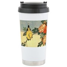 Classic Japanese Art Ceramic Travel Mug