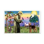 Saint Francis & Airedale 22x14 Wall Peel