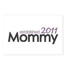 Mommy Est 2011 Postcards (Package of 8)