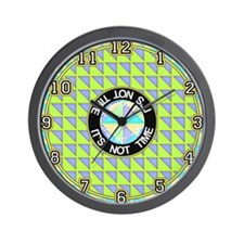 "<b>OP ART SERIES:</b> ""It's Not Time"" Wall Clock"