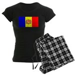 Andorra Andorran Blank Flag Women's Dark Pajamas
