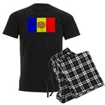 Andorra Andorran Blank Flag Men's Dark Pajamas