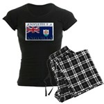 Anguilla Flag Women's Dark Pajamas