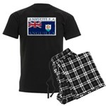 Anguilla Flag Men's Dark Pajamas