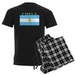 Chela Argentina Flag Men's Dark Pajamas