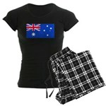 Australia Blank Flag Women's Dark Pajamas