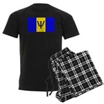 Barbados Blank Flag Men's Dark Pajamas