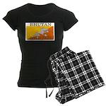 Bhutan Flag Women's Dark Pajamas
