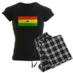 Bolivia Blank Flags Women's Dark Pajamas