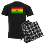 Bolivia Blank Flags Men's Dark Pajamas