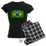 Brazil Brazilian Flag Women's Dark Pajamas