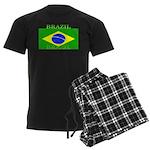 Brazil Brazilian Flag Men's Dark Pajamas
