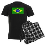 Brazil Blank Flag Men's Dark Pajamas
