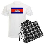 Cambodia Blank Flag Men's Light Pajamas