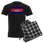 Cambodia Blank Flag Men's Dark Pajamas