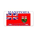 Manitoba Manitoban Flag Aluminum License Plate