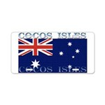 Cocos Islands Aluminum License Plate