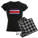 Costa Rica Costa Rican Flag Women's Dark Pajamas