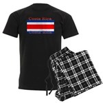 Costa Rica Costa Rican Flag Men's Dark Pajamas
