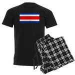 Costa Rica Flag Men's Dark Pajamas