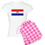 Croatia Blank Flag Women's Light Pajamas