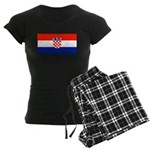 Croatia Blank Flag Women's Dark Pajamas