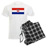 Croatia Blank Flag Men's Light Pajamas