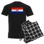 Croatia Blank Flag Men's Dark Pajamas