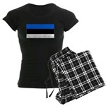 Estonia Estonian Blank Flag Women's Dark Pajamas