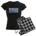 Fiji Fijian Blank Flag Women's Dark Pajamas