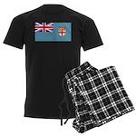 Fiji Fijian Blank Flag Men's Dark Pajamas