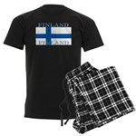 Finland Finish Flag Men's Dark Pajamas