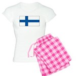 Finland Finish Blank Flag Women's Light Pajamas