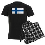 Finland Finish Blank Flag Men's Dark Pajamas