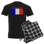 Gasquet France Flag Men's Dark Pajamas