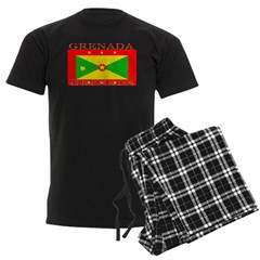 Grenada Grenadian Flag Men's Dark Pajamas